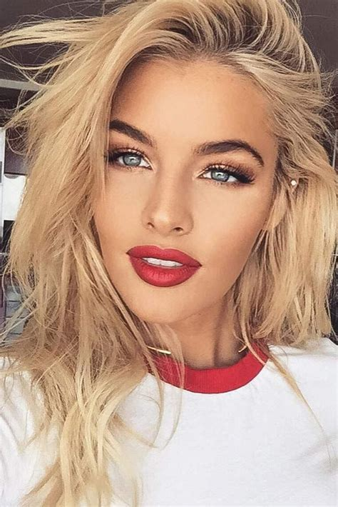 blonde lipstick colours 45 red lipstick looks get ready for a new kind of magic