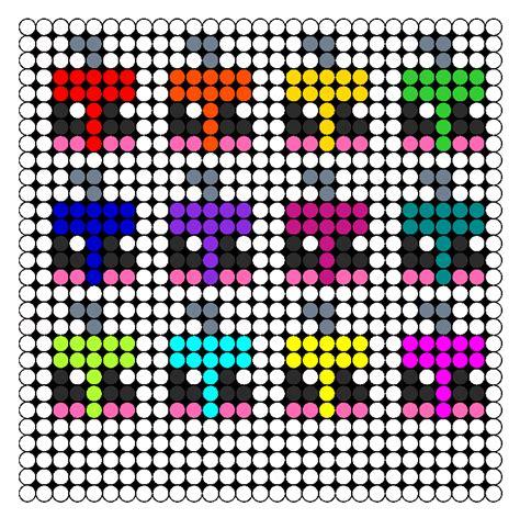 kawaii perler bead patterns kawaii ornaments perler bead pattern bead sprites