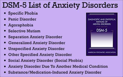 Dsm 5 anxiety disorders list environmental allergies icd 10 dsm axis