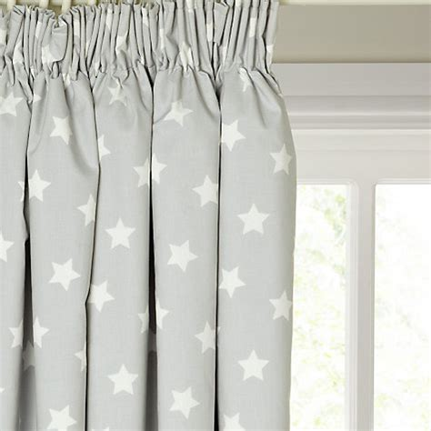 star blackout curtains buy little home at john lewis star pencil pleat blackout