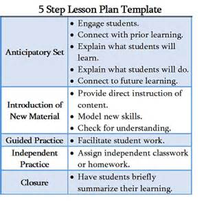 5 Step Lesson Plan Template by Calla Lesson Plan Template Ebook Database