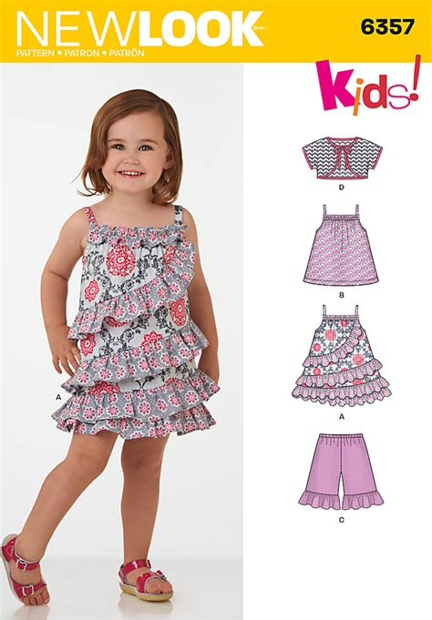 xat new pattern 2015 new look 6357 toddlers dress top shorts and bolero