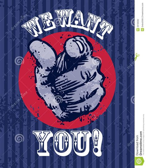 i want you template we want you poster stock photography image 28198382