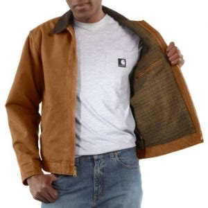 Carhartt Sandstone Detroit Jacket Blanket Lined by Carhartt 174 Detroit Jackets Outdoor Work Coats Carhartt
