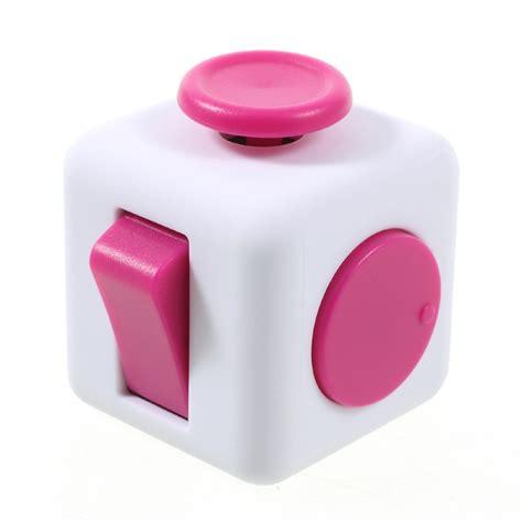 Cubes Pink fidget cube hvid pink