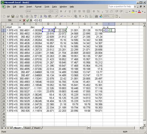 What Does A Spreadsheet Look Like by Sdss Skyserver Dr10
