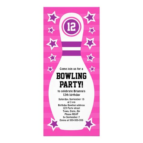 bowling birthday invitation templates free printable bowling invitation templates