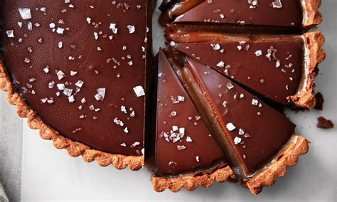 chocolate recipes chocolate caramel tart recipe dishmaps