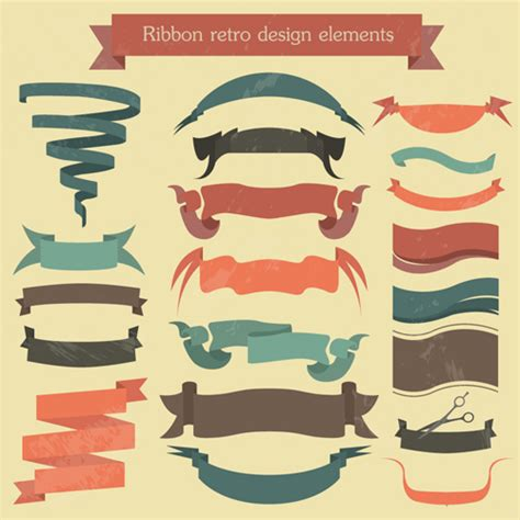 design banner retro vector set of ribbon vintage banners 05 vector banner
