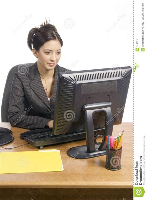 bureau femme femme de bureau image stock image du femme transmission