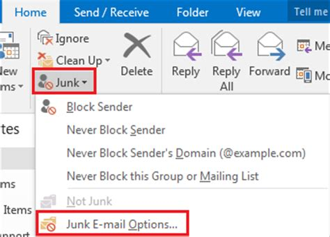 Office 365 Outlook Junk Folder Office 365 Outlook 2016 For Windows Overview Of The
