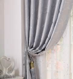 Silver Window Curtains Brief Modern Geometric Solid Silver Window Screening Tulle Sheer Curtain Decoration And Blackout