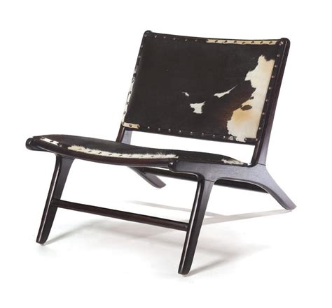 Modern Cowhide Chair - black and white cowhide modern occasional chair kathy
