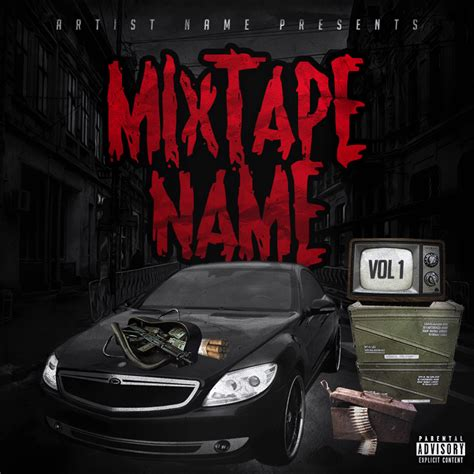 mixtape cover template free mixtape cover template psd psdbucket