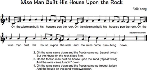 the wise man built his house upon the rock music wise man built his house beth s notes