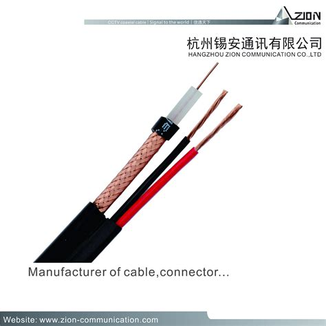 high power coaxial cables high quality rg6 u 18awg 2c cctv coaxial cable 95 cctv
