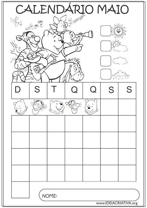 Calendario Junho 2015 Calend 225 Rios Maio 2015 Turma Do Pooh Educa 231 227 O Infantil