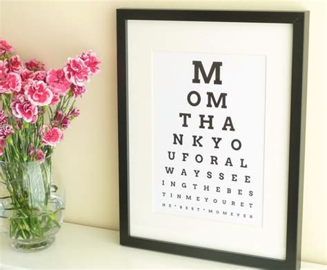christmas gift for mom diy personalized eye chart mothers day gift tutorial