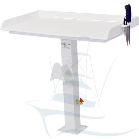 fish cleaning table with pedestal leg fish cleaning station