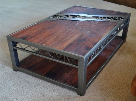 Coffee Table: amazing iron and wood coffee table Wrought