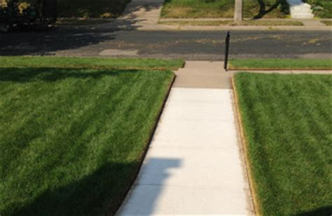 Landscape Edging Along Sidewalk Sidewalk Drive And Curb Edging Welcome To Lawn Turf