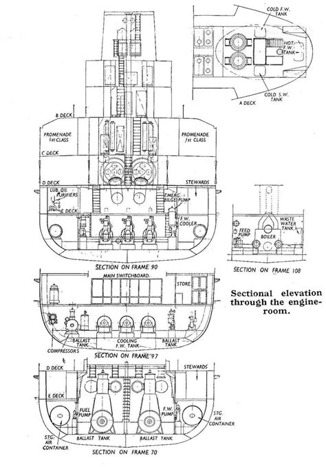 Ship Engine Room Layout Design by The Fastest Sea Ferry Research On Hms Princess Beatrix Hms By