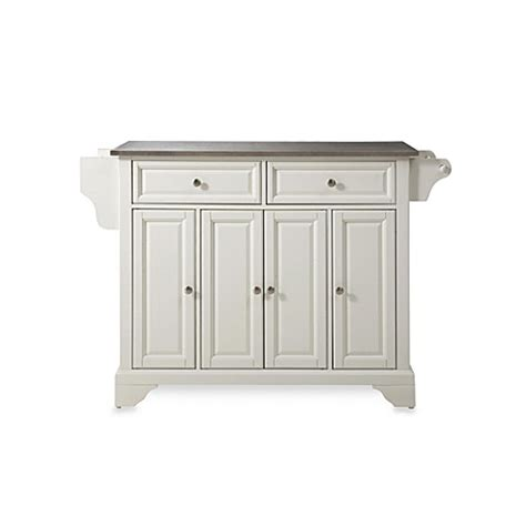 crosley steel kitchen cabinets buy crosley lafayette stainless steel top kitchen island