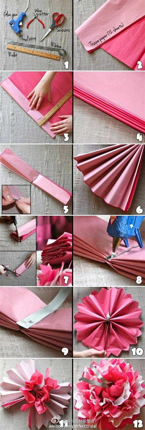 Easy Handmade Paper - diy easy tissue paper flower diy projects usefuldiy