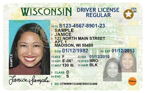 wisconsin drivers license template id trainers