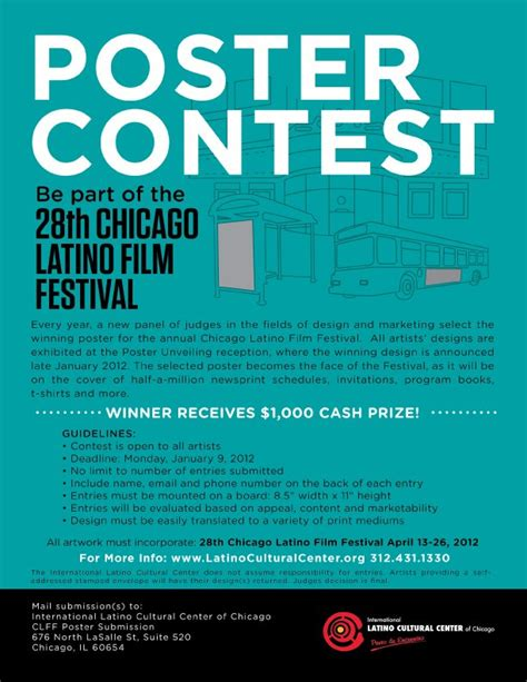 poster design competition guidelines chicago latino film fest poster contest agatha kubalski