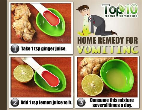 treatment for nausea and vomiting home