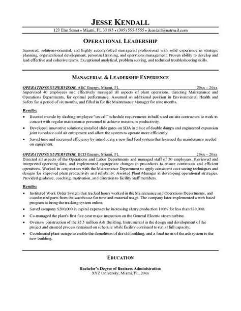 Resume Objective For Supervisor Supervisor Resumes Free Excel Templates