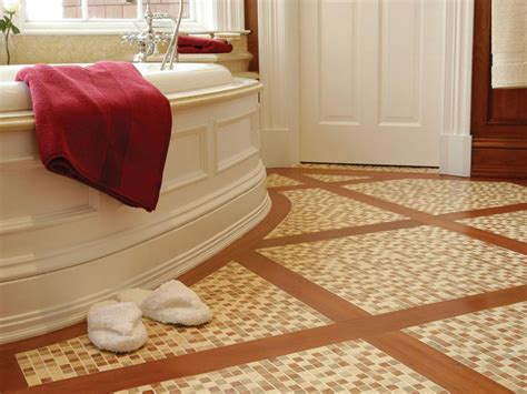 ideas for bathroom floors choosing bathroom flooring hgtv