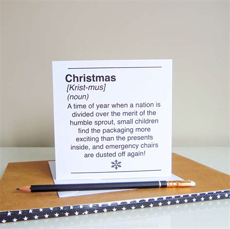 dictionary style christmas cards by little bird designs