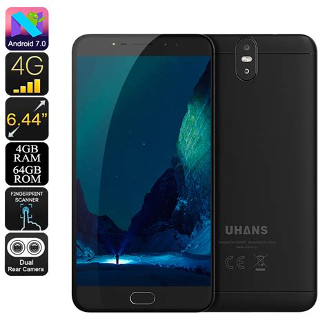 android max uhans max 2 android phone black