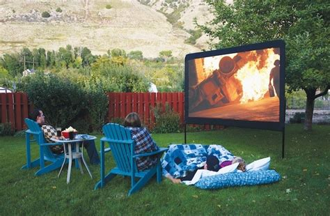 backyard theater amazon com c chef 120 inch portable outdoor movie