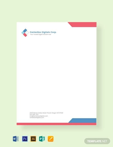 company letterhead template word psd