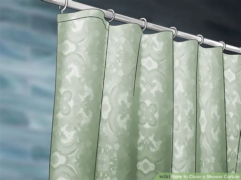 shower curtain cleaning tips vinegar 3 ways to clean a shower curtain wikihow