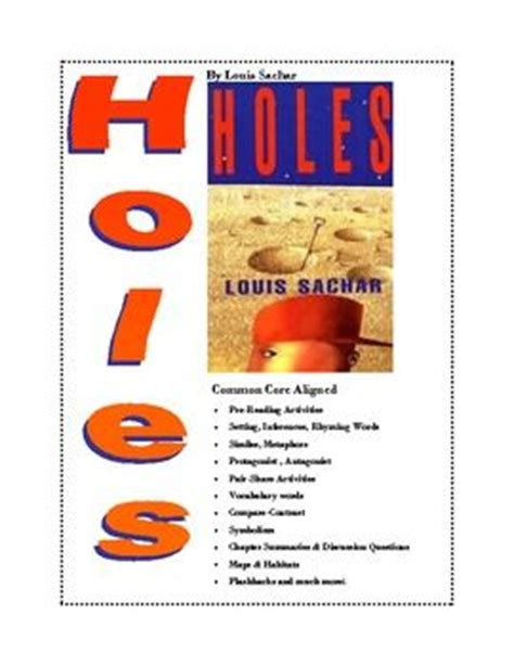 Holes Worksheets by Quot Holes Quot By Louis Sachar 61 Common Aligned Worksheets