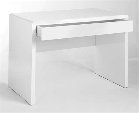 white desk uk high gloss white workstation computer desk by luxor uk