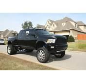 2012 Black Custom Dodge Ram Mega Cab 3500 Dually 10inch Lift