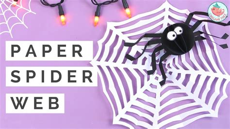 How To Make A Paper Spider - crafts kirigami spider web w one sheet of