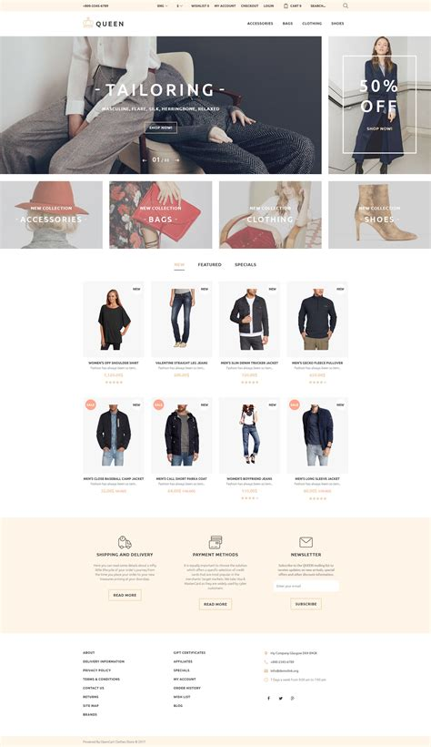 fashion store template fashion store responsive opencart template 58258