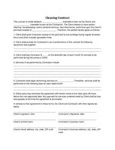 Cleaning Service Agreement Template by Cleaning Contract