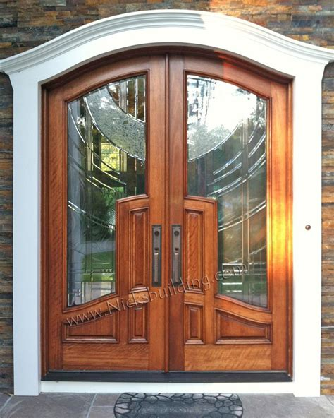custom built wood exterior doors entryway arch top arched top radius wood doors for sale in indianapolis