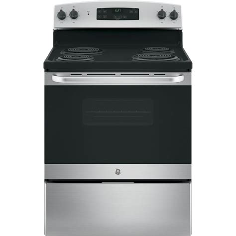 home depot standing ls frigidaire 4 8 cu ft electric range in stainless steel