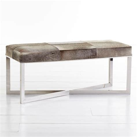 Cowhide Benches - crosshair hide bench wisteria
