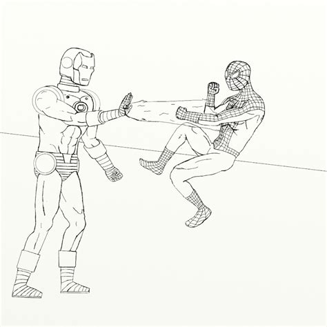 ironman and spiderman coloring pages free coloring pages of iron man and spider man