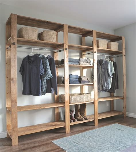 Diy Armoire Closet by Wonderful Wardrobe Clothing Rack Projects Decorating Your Small Space
