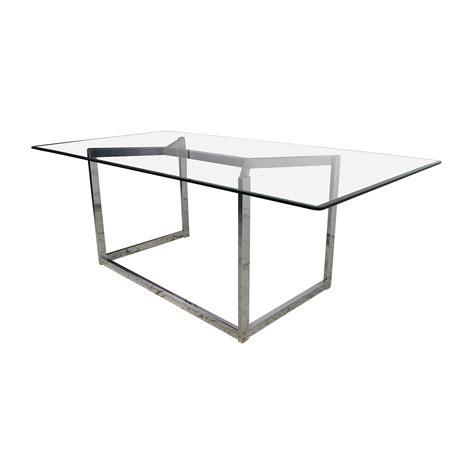 Cb2 Glass Dining Table 30 Cb2 Cb2 Tesso Chrome And Glass Dining Table Tables